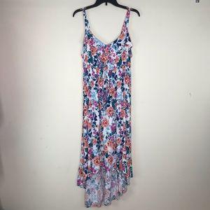 Torrid Maxi Dress Hi Low Floral Print Size 1